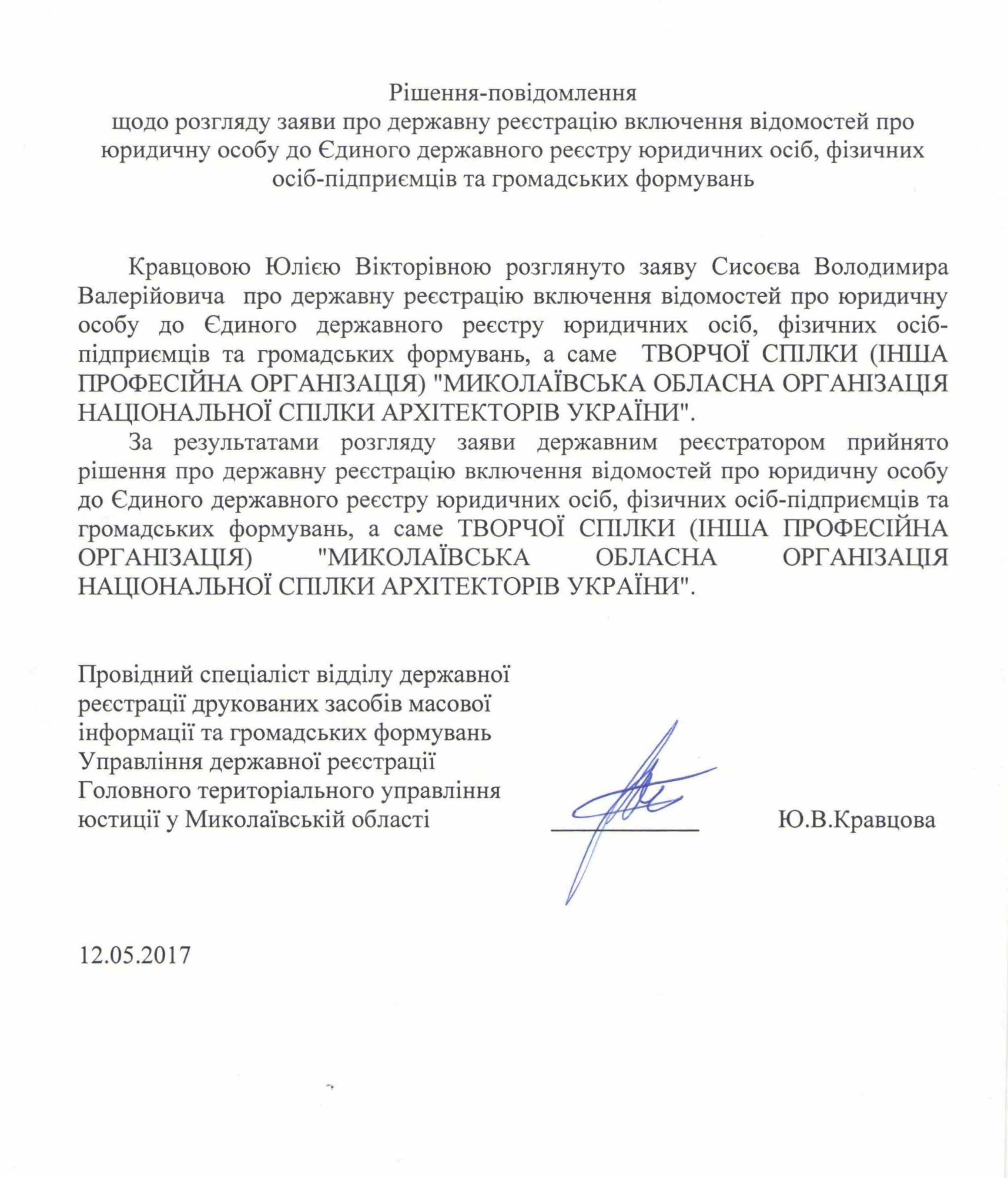 12.05.2017 повідомлення про включення 001 кк